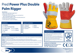 Power Plus Double Palm Rigger Data Sheet