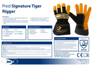 Signature Tiger Rigger Data Sheet