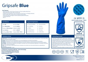 Gripsafe BLUE data sheet