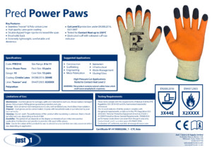 Power Paws Data Sheet
