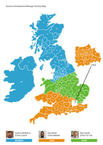 UK territory map with regional BDM