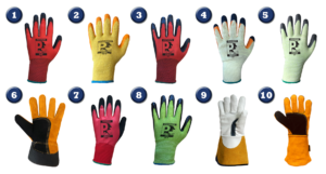 Images of Just 1 Source & Supply's top 10 best selling work gloves