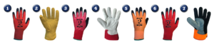 Gloves for use in logistics/warehousing
